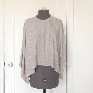 Zara butterfly sleeve rib knit top
